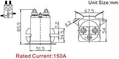 VKS XR-2124 12 Volt 4 Terminal Continuous Duty 200 Amp Solenoid Fits SBJ6255 686696200681