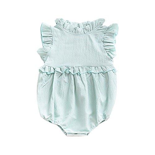 57c4fc02abeea ZooArts ベビー ロンパース 女の子 新生児服 女児 夏 無地 袖なし カバーオール ボディースーツ 出産祝い