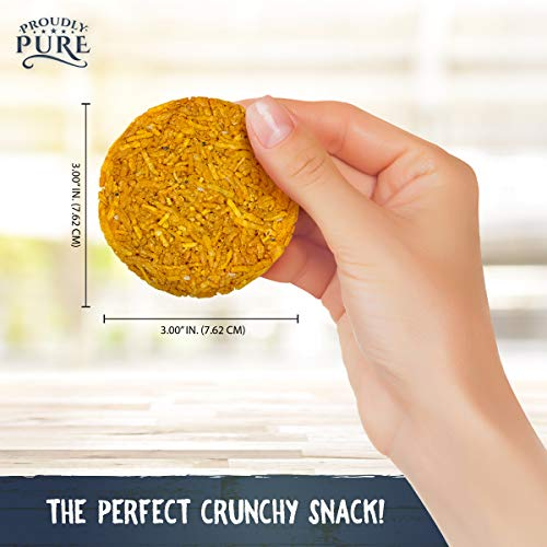 Proudly Pure Parmesan Cheese Crisps - Keto Snacks Zero Carb Crunchy Delicious Healthy 100% Natural Aged Cheesy Parm Chips Wheat, Soy & Gluten Free Keto Crackers Low Carb Snacks | Variety 4 PACK 3