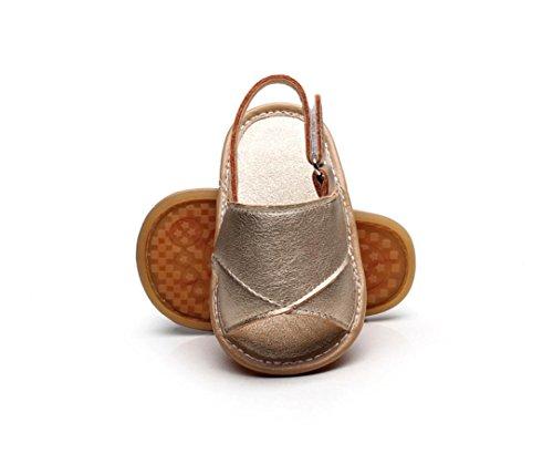 Jamicy® Baby Sandalen, Kleinkind Jungen Mädchen Sommer Casual Beach Solide Hohl Sandalen Schuhe Khaki