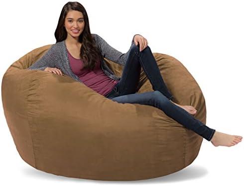 Excellent Comfy Sacks 5 Ft Lounger Memory Foam Bean Bag Chair Cocoa Alphanode Cool Chair Designs And Ideas Alphanodeonline