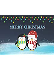 Merry Christmas: 12 Blank Gift Certificate Coupons For Kids Ages 7-12 & Holiday Coloring Book Pages | Do It Yourself Christmas Present Idea | Cute Penguins (Create Your own Custom Gifts)