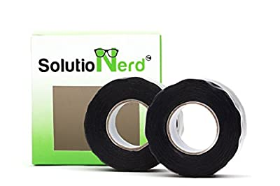Waterproof Rubber Silicone Seal Repair Plumbers Tape Self Fusing Rubberized Leak Tape 20 FT long 950 PSI By SolutioNerd