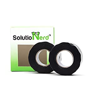 20 ft long Waterproof Rubber Silicone Seal Repair Plumbers Tape Self Fusing Rubberized Leak Tape 950 PSI By SolutioNerd