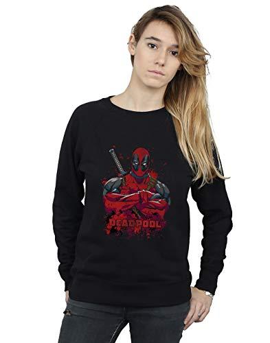 Pose Splat Marvel D'entraînement Chemise Deadpool Noir Woman 4gHCq6