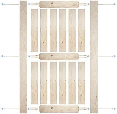 Amazon Com Belleze 42 X 84 Inches Modern Sliding Barn Door Natural Wood Pine Unfinished Single Door Double X Home Improvement
