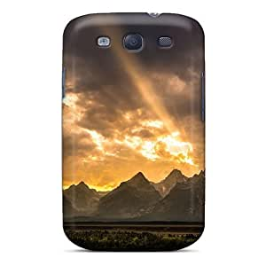 Durable Protector Case Cover With The Great Gr Tetons In Wyoming Hot Design For Galaxy S3