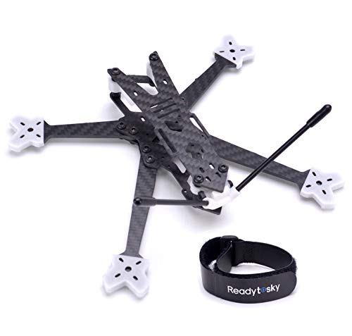 Readytosky LR 200mm FPV Racing Drone Frame 5 Inch Carbon Fiber Quadcopter Frame 4mm Arms with TPU Printing Parts+Lipo Battery Straps