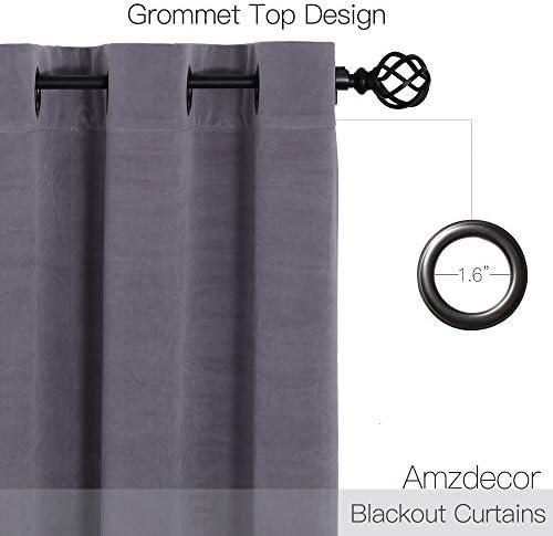 Amzdecor Ivory Velvet Curtains – Lower Light Dimming Panels for Media Room Master Bedroom, W52 x L95-inch, 2 Panels