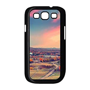 Autumn Sunset Clouds Samsung Galaxy S3 9300 Cell Phone Case Black toy pxf005_5733107