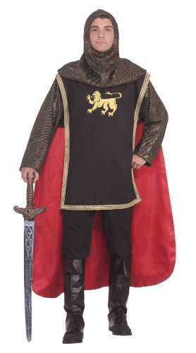 [Forum Medieval Knight Deluxe Costume, Brown, Standard] (Medieval Mens Costumes)