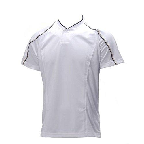 立場パーセントペインティングローリングス【13A-07】半袖ベースボールシャツWホワイト O