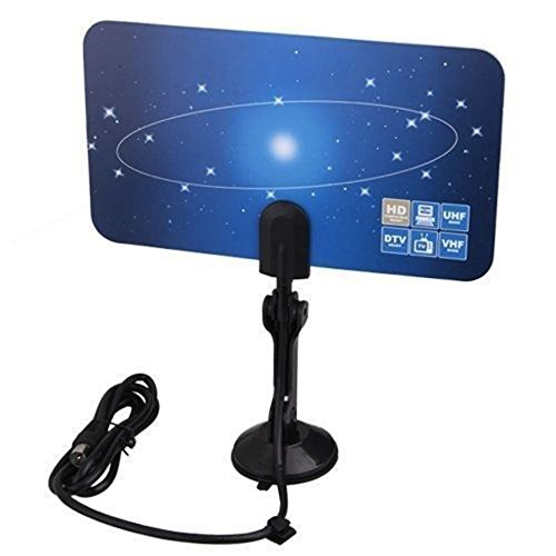 Digital Indoor VHF UHF Ultra Thin Flat TV Antenna for HDTV 1080p DTV HD Ready XG