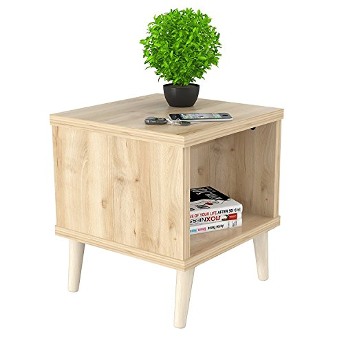 Indoor Multi-Function Accent Table Study Computer Home Office Desk Bedroom Living Room Modern Style End Table Sofa Side Table Coffee Table Maple coffee table - Maple Modern Coffee Table
