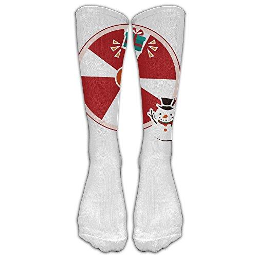 Snowman Turntable Fashion,stylish,comfortable,soft Knee High Unisex - Village Cards Gift University