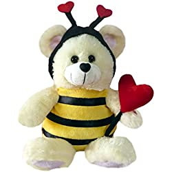 """Chantilly Lane """"Bee Mine"""" Bear Sings """"How Sweet It Is To Be Loved by You"""" Plush, 11"""""""