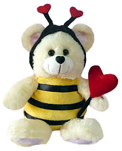 Valentine musical stuffed animals - Chantilly Lane Bee Mine Bear Sings How Sweet It Is To Be Loved by You Plush, 11