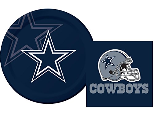 Dallas Cowboys NFL Luncheon Napkins & Plates Party Kit for (Dallas Cowboys Party Supplies For Kids)
