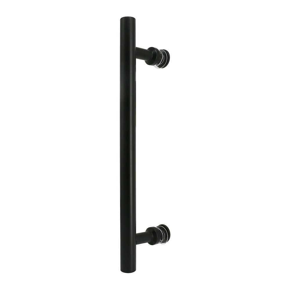 16'' Flat Black Side Mount Bar Pull Handle for Barn Door Hardware