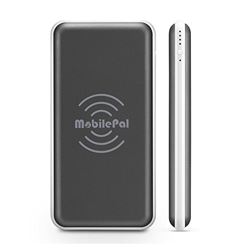 MobilePal Next-Generation 10000mAh Wireless Charging Power Bank with Qi Input and Output [New 2017 Model]