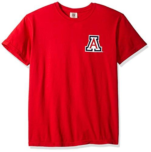 NCAA Arizona Wildcats State Baseball Laces Short Sleeve Comfort Color T-Shirt, (Arizona State Wildcats)