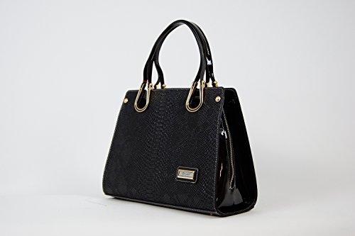Tasche Abendtasche Damentasche Handtasche Luxus Taymir 2Jahre Garantie ver Farbe Schwarz