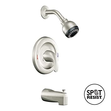 Moen L82694srn Adler One Handle Tub And Shower Faucet, Brushed ...