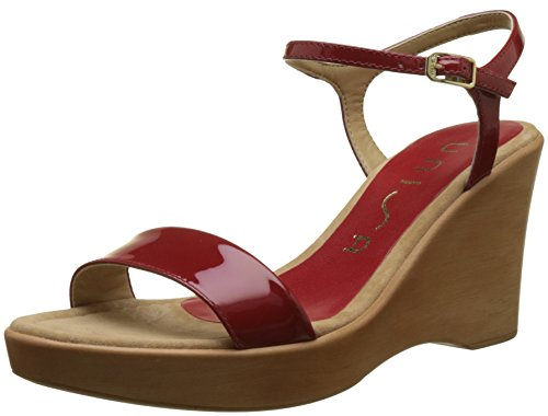 Toe rouge Unisa Women''s 18 Rita Sandals Open Red pa XOSgOfqw