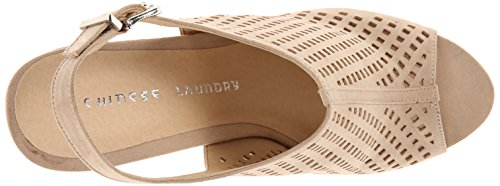 Chinese Laundry Womens Meet Up Wedge Sandal Sand Suede Zw8Et2Ccf