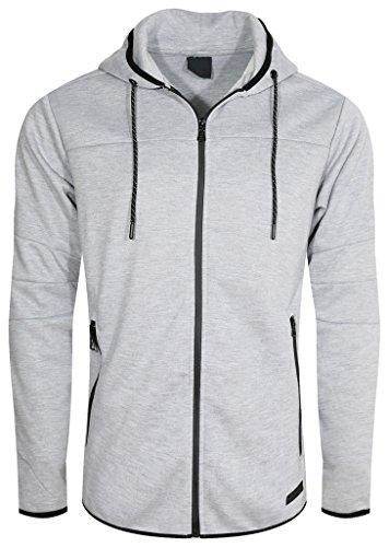 UPSCALE Mens Tech Fleece Jacket HEATHERGRAY XL