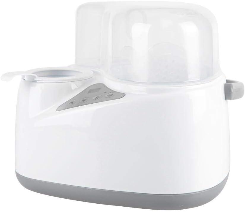 4-in-1 biberones más cálido igual de leche seno de calentamiento esterilizador Vapor infantil Calentador Botella almacenamiento con apagado Automático Control de temperatura funciones EU Plug: Amazon.es: Bebé