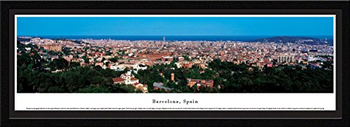 Barcelona, Spain - Blakeway Panoramas Skyline Posters with Select Frame by Blakeway Worldwide Panoramas
