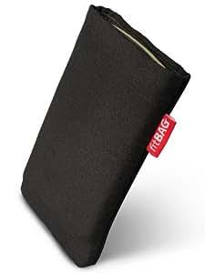 fitBAG Rave Black funda para Samsung E1125. Tela de calidad con forro de microfibra para la limpieza de pantalla