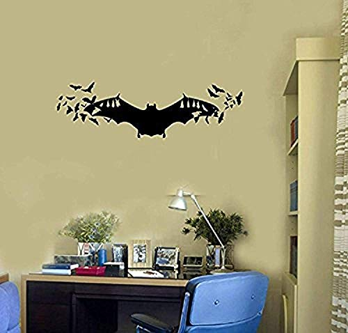 Bats Vinyl Wall Decal Halloween Scary Room Decoration Idea Stickers Mural HDS1892
