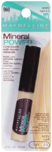 Maybelline New York Mineral Power Concealer, ivoire, Lumière 2-3, 0,18 once liquide