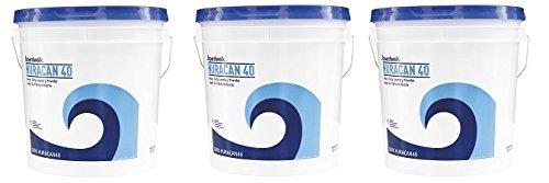 Boardwalk HURACAN40 Low Suds Industrial Powder Laundry Detergent, Fresh Lemon Scent, 40lb Pail (3-(Pack))