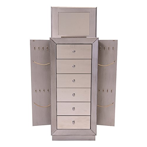 Hives and Honey Mia Jewelry Armoire, Metallic Silver by Hives and Honey (Image #2)