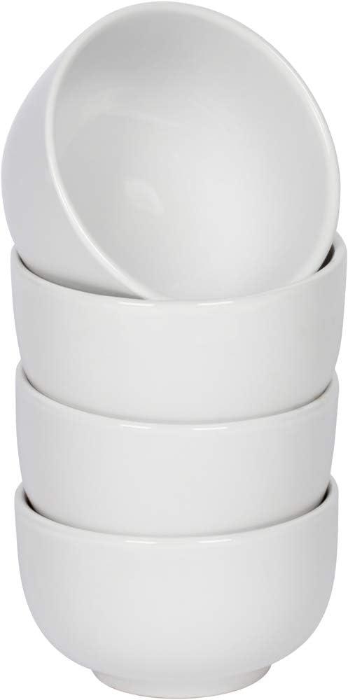 Gibson Everyday White 24 Oz Ceramic Bowls, Set of 4