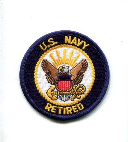 Embroidered Patch-Patches for Women Man- US Navy Retired United States Navy