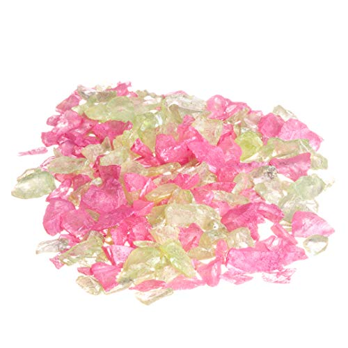 Sea Glass Chips | Lime and Pink | Pearlized Sea Glass Pieces | Bulk Colored Sea Glass Chip Mix for Craft and Decor | Plus Free Nautical Ebook by Joseph Rains