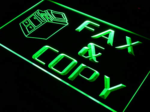 ADVPRO OPEN Fax and Copy Stationery LED看板 ネオンプレート サイン 標識 Purple 600 x 400mm st4s64-i064-p B07H1Y43B1 24