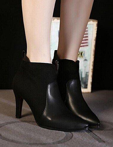 Stiletto Zapatos Tacón us8 De Anfibias Cn39 Puntiagudos Exterior Semicuero Xzz Negro Casual Uk6 Botas Gray Mujer Eu39 Gris 6IdtxxRq