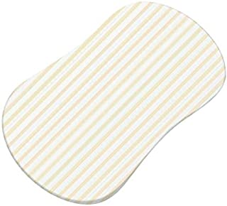 product image for SheetWorld Fitted Bassinet Sheet (Fits Halo Bassinet Swivel Sleeper) - Yellow Stripes Jersey Knit - Made In USA