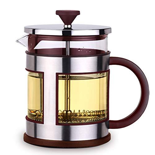 HYJBGGH Cafeteras de émbolo Cafetera Francesa con Filtro De Acero Inoxidable, Vidrio De Borosilicato Resistente Al Calor…