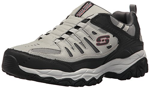 Skechers Sport Men's Afterburn Extra Wide Fit Wonted Loafer,gray/black,10 4E US