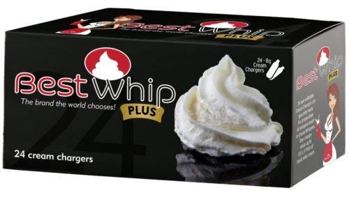 Best Whip PLUS 120 (5x24) N2O 8g size whip cream charger - 5 boxes of 24 BW+