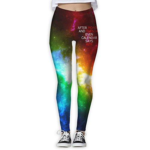 Xukai Monday Tuesday W T F Womens Yoga Pants Workout Training Leggings