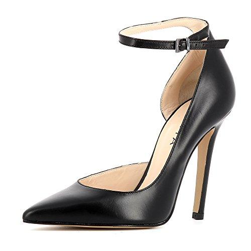 Evita Shoes Lisa Damen Pumps Glattleder Schwarz