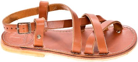 Duckfeet Bornholm Strappy Sandal,Brown Leather,EU 36 M