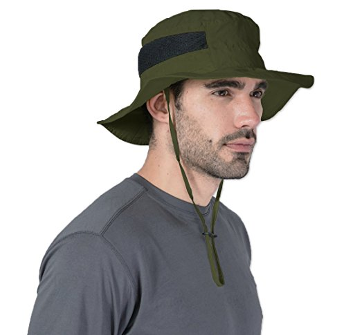 Sun Cowboy Protection (Tough Headwear Outdoor Boonie Sun Hat - UPF 50 Protection for Men & Women. Wide Brim Summer Hat. Waterproof for Fishing, Hiking, Camping, Boating & Outdoor Adventures. Breathable Nylon & Mesh)